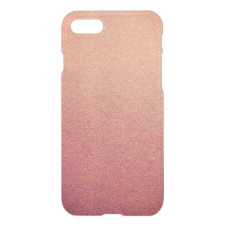 Rosa Schafgarbe Ombre Glitter-Sand-Blick iPhone 8/7 Hülle