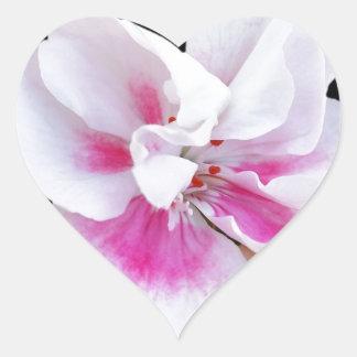 Rosa Schatten Herz-Aufkleber