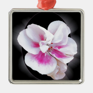 Rosa Schatten Silbernes Ornament