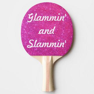 Rosa Schein-funkelnd Glitter-bezaubernder Glittery Tischtennis Schläger