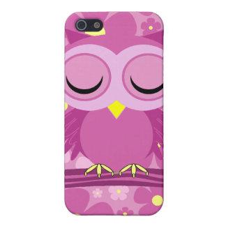 rosa schläfrige Eule iPhone 5 Etui