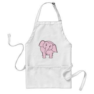 Rosa schläfriger Elefant Karikatur Schürzen