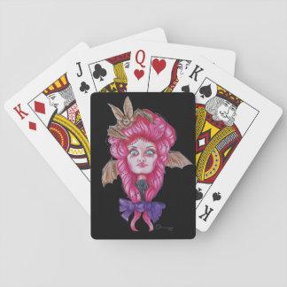 Rosa Schläger-Mädchen-Spielkarten Spielkarten