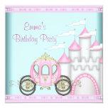 Rosa Schloss-Mädchen-Prinzessin Birthday Einladungskarte
