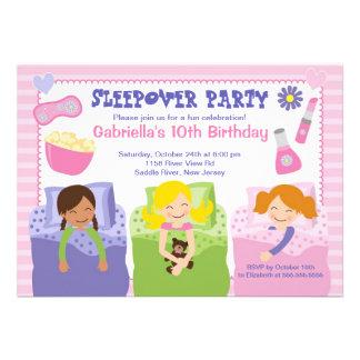 Rosa Schlummer-Party-Spaß-Geburtstags-Einladung