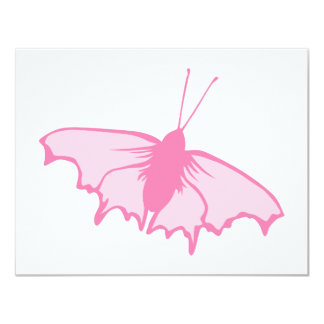 Rosa Schmetterling 10,8 X 14 Cm Einladungskarte
