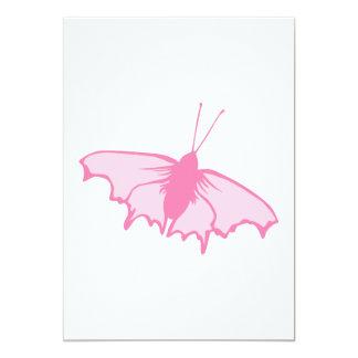 Rosa Schmetterling 12,7 X 17,8 Cm Einladungskarte