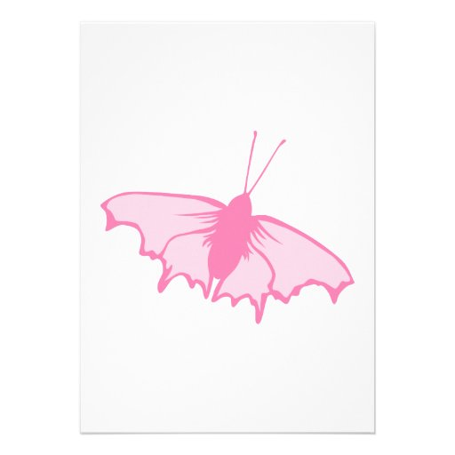 Rosa Schmetterling Personalisierte Ankündigung