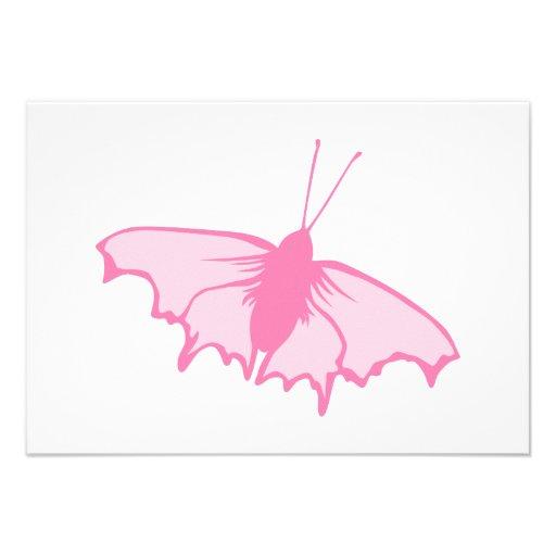 Rosa Schmetterling Individuelle Einladungen