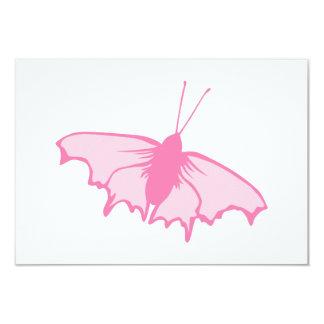 Rosa Schmetterling 8,9 X 12,7 Cm Einladungskarte