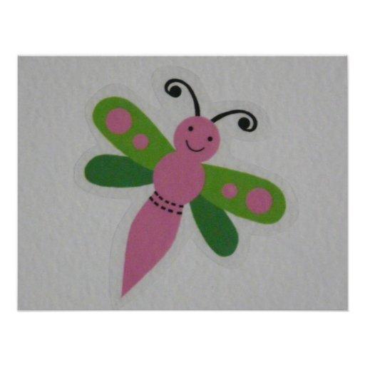 rosa Schmetterling Individuelle Ankündigung