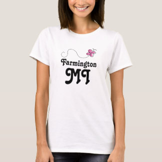 Rosa Schmetterling Farmingtons Michigan T-Shirt