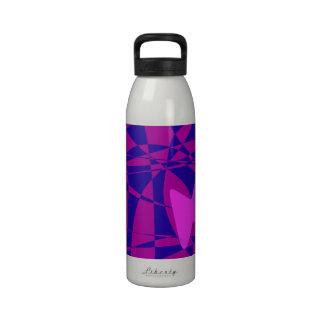 Rosa Schmetterling Trinkflasche