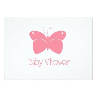 Rosa Schmetterlings-Babyparty-Einladung