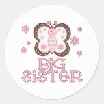 Rosa Schmetterlings-große Schwester Aufkleber