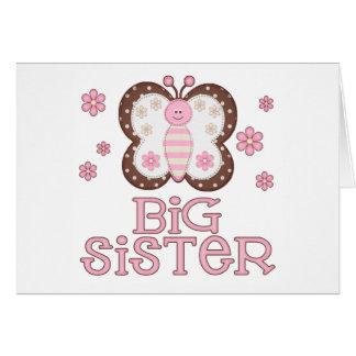 Rosa Schmetterlings-große Schwester Karte