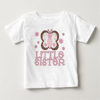 Rosa Schmetterlings-kleine Schwester Baby T-shirt