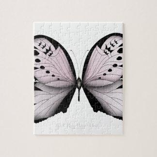 Rosa Schmetterlings-Rosen-Sumpf-Mädchen Puzzle
