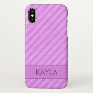 Rosa Schmutz-Streifen-Gewohnheit iPhone X Hülle