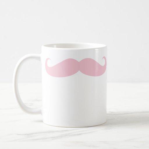 Rosa Schnurrbart-Kaffee-GetränkeTasse Kaffee Tasse