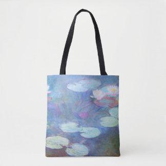 Rosa schöne Kunst Wasser-Lilien-Claude Monets Tasche