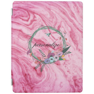 rosa schönes Beschaffenheitsmarmorierungmuster iPad Hülle