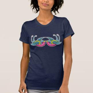 rosa Schwalbent-stück T-Shirt