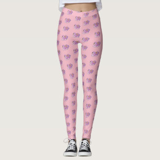 Rosa Schwäne /Pink - Leggings