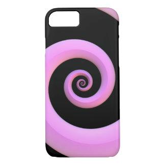 Rosa-/Schwarz-Spirale iPhone 8/7 Hülle
