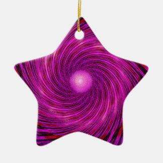 Rosa Schwarz-Spiralen-Wellen-Kaleidoskop-Kunst Keramik Ornament