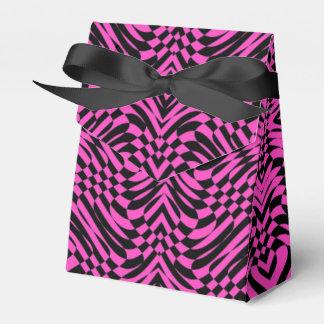 Rosa schwarze abstrakte OPkunst Geschenkschachtel