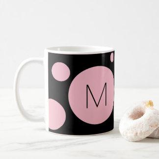 Rosa/schwarze Punkt-Gewohnheits-Tasse Kaffeetasse
