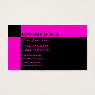 Rosa schwarze Wäsche-Modell-Visitenkarten Visitenkarten
