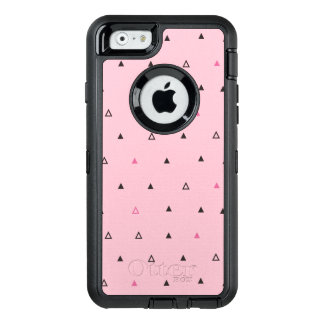 Rosa schwarzer geometrischer Muster Otterbox OtterBox iPhone 6/6s Hülle