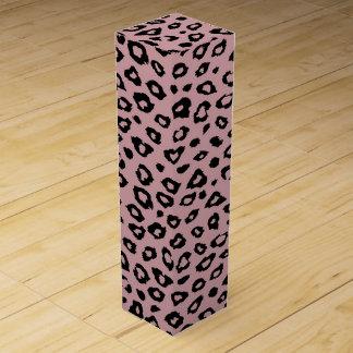 Rosa schwarzer Leopard-Druck Weinbox