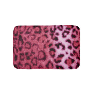 Rosa schwarzer Leopard-Muster-Druck-Entwurf Badematte