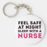 Rosa schwarzer Sassy Krankenschwester-Spaß Schlüsselband