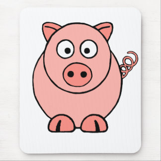 Rosa Schwein Mousepad