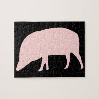 Rosa Schwein-Puzzlespiel Puzzle