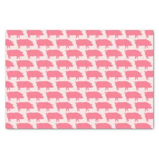 Rosa Schwein-Silhouette-Muster Seidenpapier