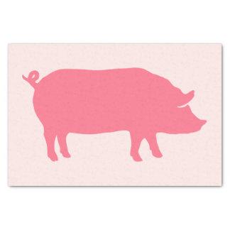Rosa Schwein-Silhouette Seidenpapier