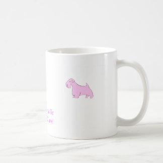 Rosa Sealyham Terrier Kaffeetasse