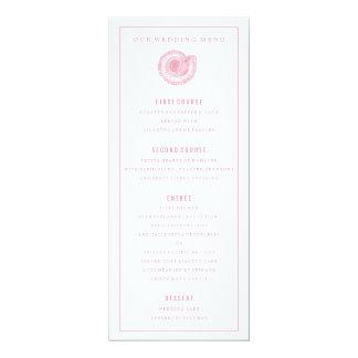 Rosa SeeMuschel-Hochzeits-Abendessen-Menü 10,2 X 23,5 Cm Einladungskarte