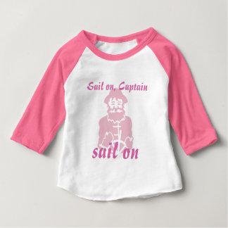 Rosa Segel an Baby T-shirt