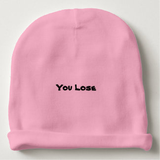 """Rosa """"Sie verlieren"""" Beanie Babymütze"""