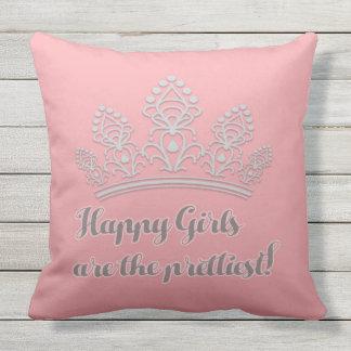Rosa silberner Festzugtiara-glückliche Mädchen am Kissen Für Draußen