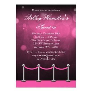 Rosa silberner Geburtstag 11,4 X 15,9 Cm Einladungskarte