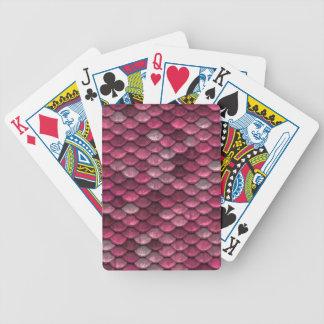 Rosa Snakeskin Hintergrund Bicycle Spielkarten