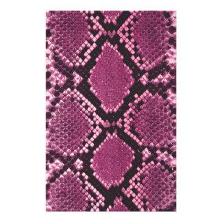 Rosa Snakeskin Muster Bedrucktes Büropapier