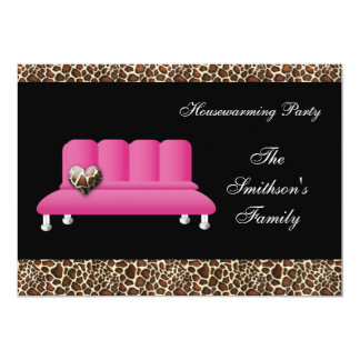 rosa Sofa des Chic, Party Einladung